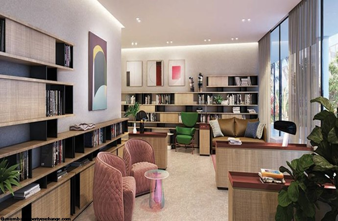 Lodha Trump Tower Well Stocked Library