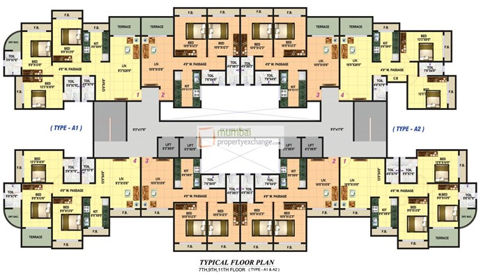 7,9&11th Floor plan