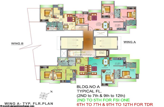 Kavya Park Wing A Typical Floor Plan