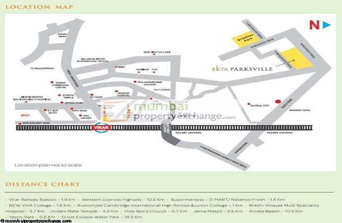 Ekta Hyde Park K Location Map