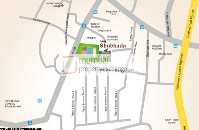 Bajaj Shubhada Location Map