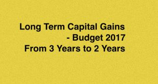 Reduction of LTCG from 3 years to 2 Years will give Investor better returns in Real Estate.