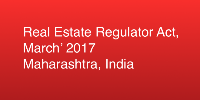 Maharashtra to announce final rules in RERA in March 2017