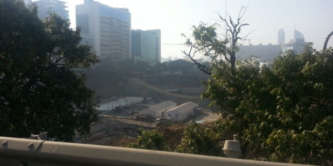 Lodha blue moon work full on way
