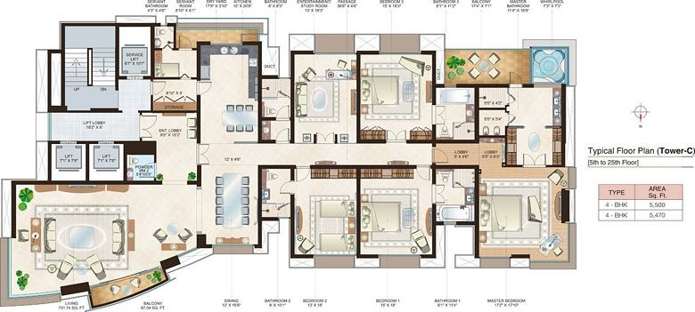 Beaumonde A Floor Plan VII