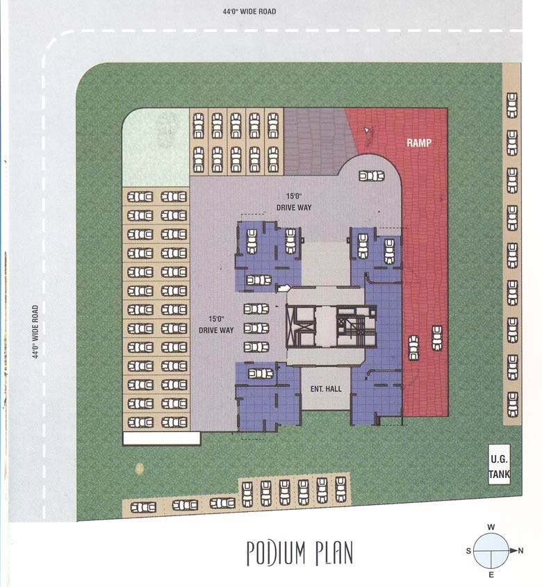 Brighton podium level plan