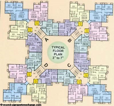 Silicon Towers 3-7 Floor Plan