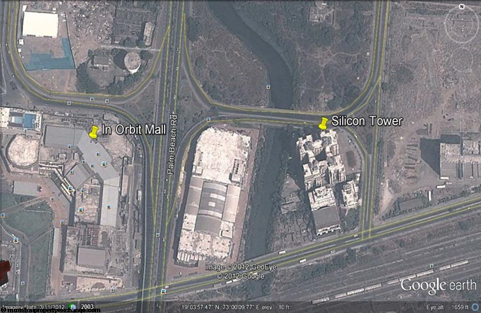 Silicon Towers Google Earth