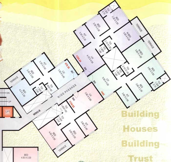 Tiara  B Wing Floor Plan