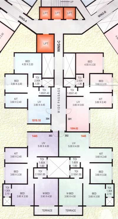 Tiara  C Wing Floor Plan