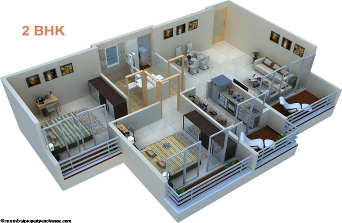 Prajapati Magnum Floor Map 2BHK