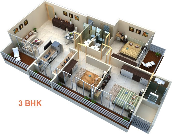 Floor Map 3BHK