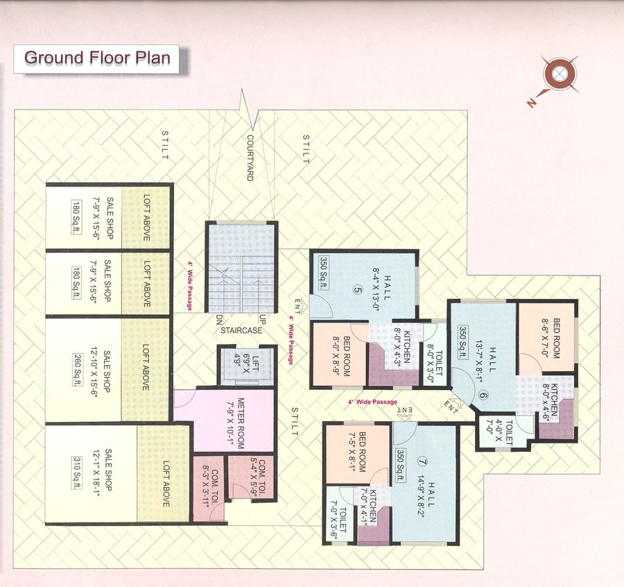 Prathamesh Apartments Ground Floor plan