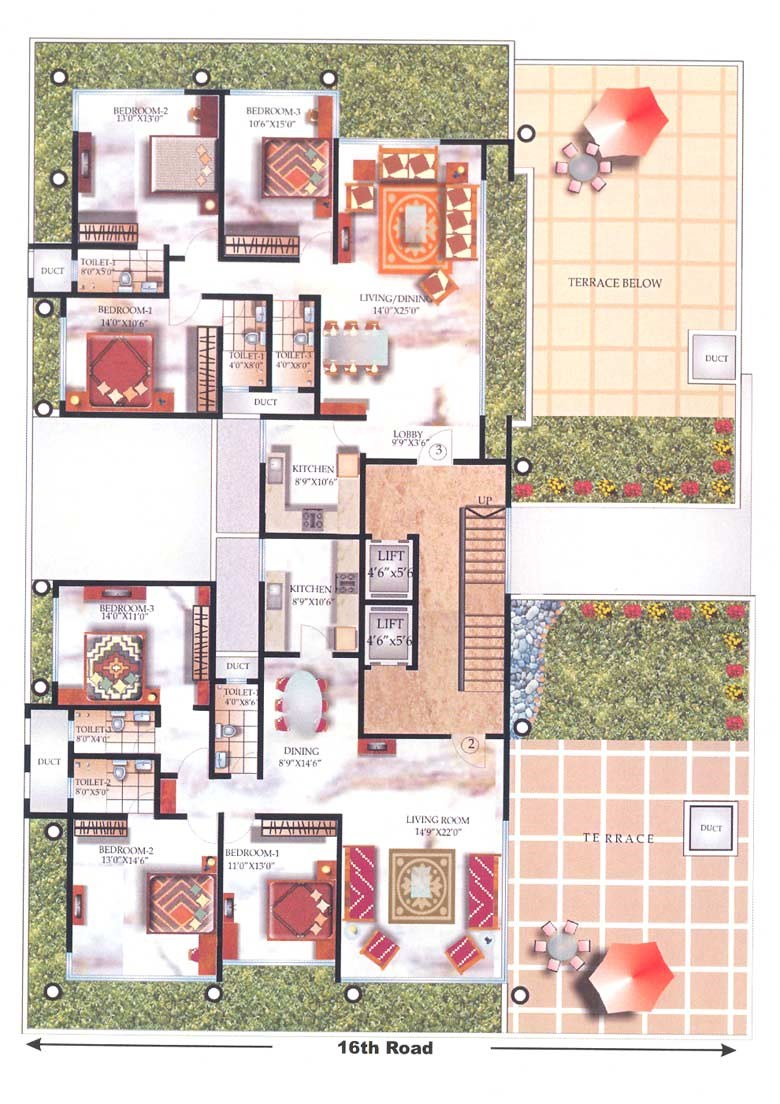 Sudhama Niwas 7th floor plan