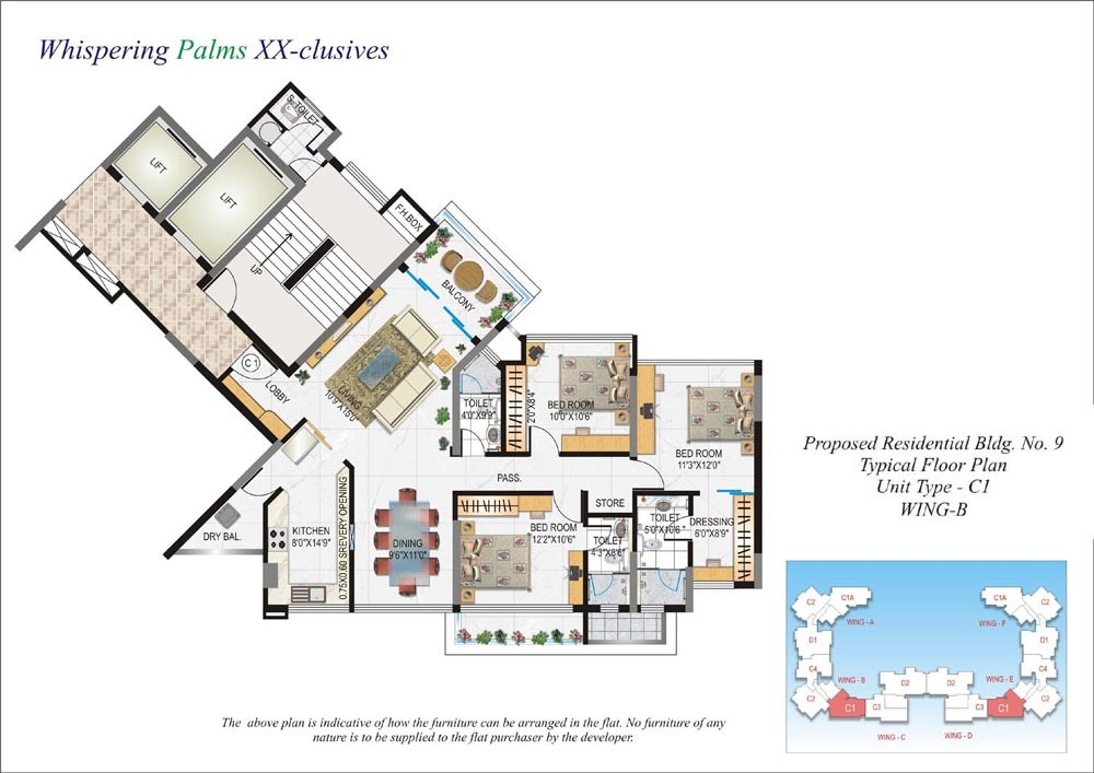 Whispering Palms Floor Plan I
