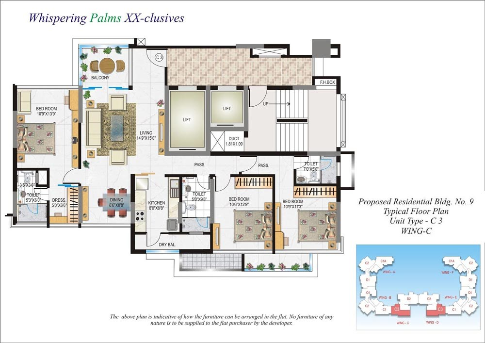 Whispering Palms Floor Plan III