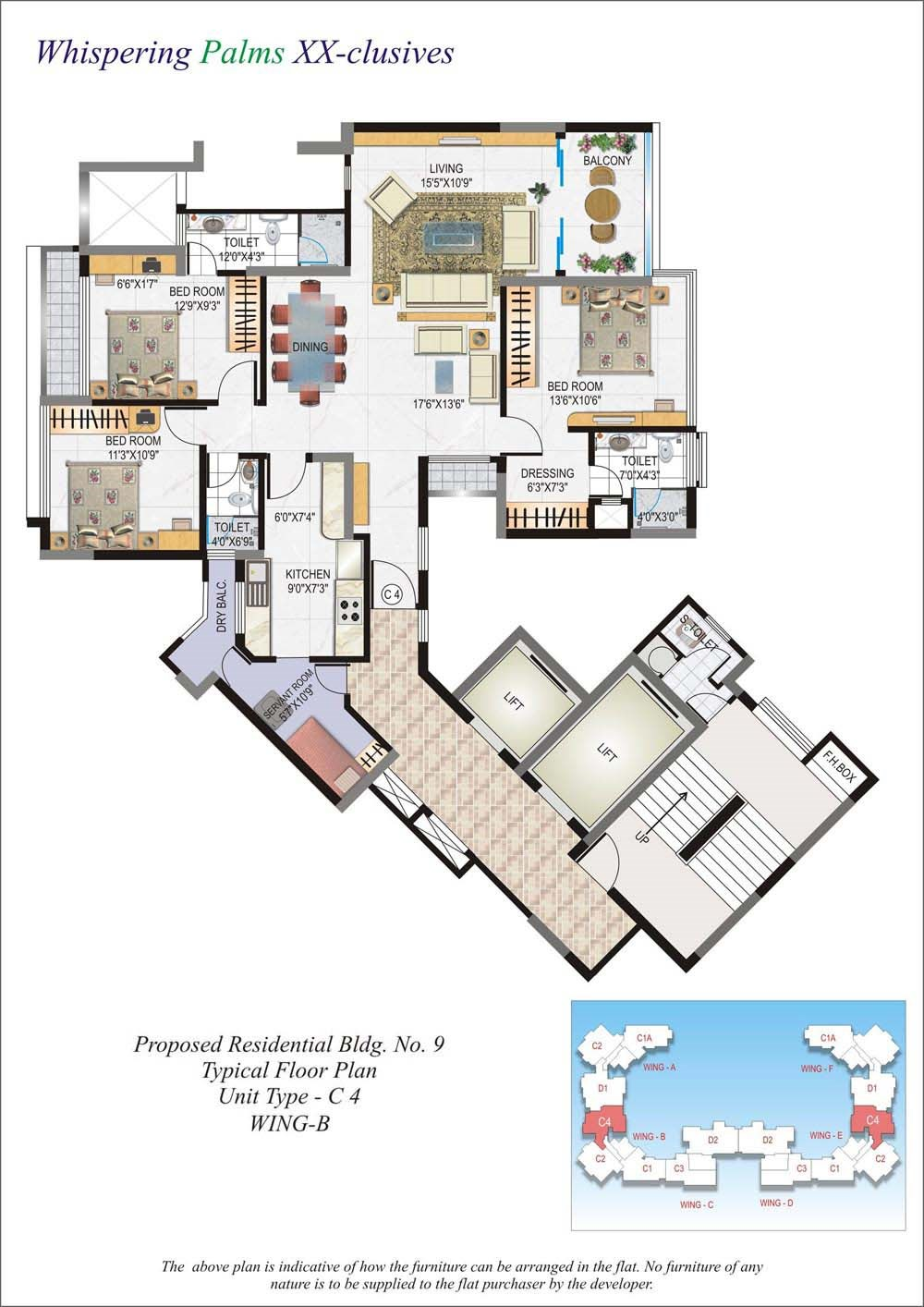 Whispering Palms Floor Plan IV