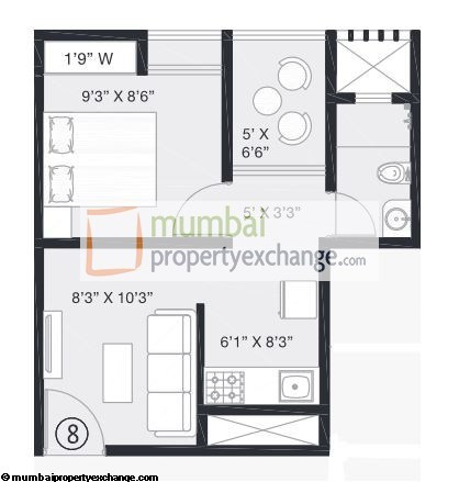 Platinum Corp Tower 1BHK Small