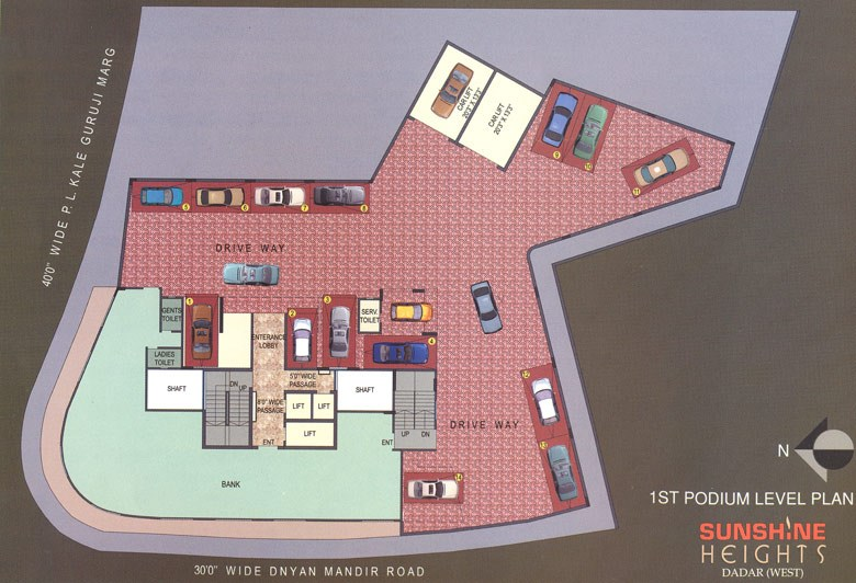 Sunshine Heights Podium Level Plan