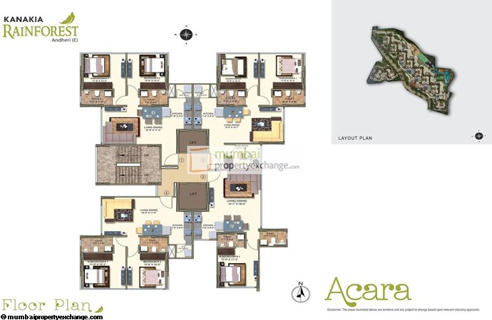 Kanakia Rainforest Acara A Floor Plan