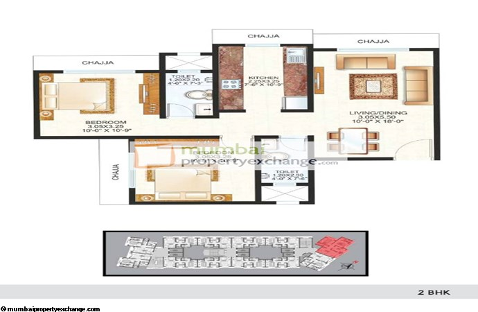 Raunak Centrum 2BHK