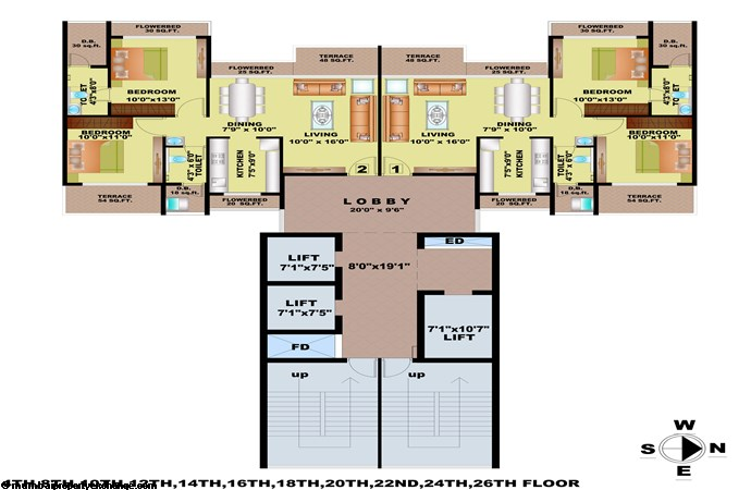 Bhagwati Greens Floor Plan Wing C