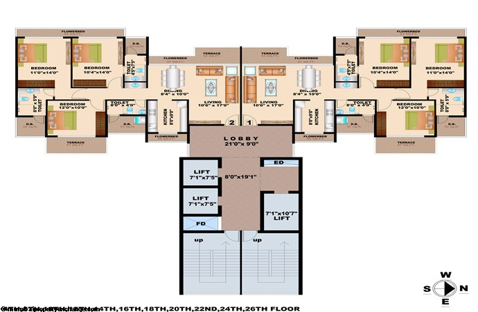 Bhagwati Greens Floor Plan Wing D