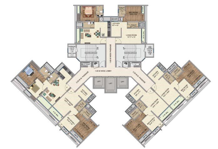 One Park Avenue Typical Floor Plan Avenue 1