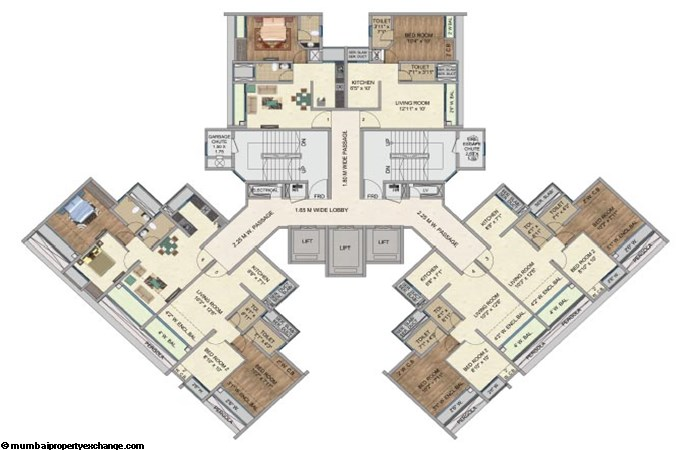One Park Avenue One Park Avenue Typical Floor Plan Upto 20th Floor Avenue 2