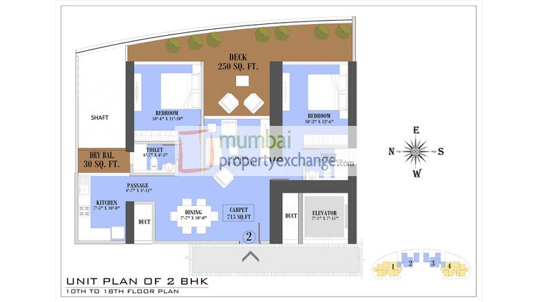 Floor Plan 2 BHK