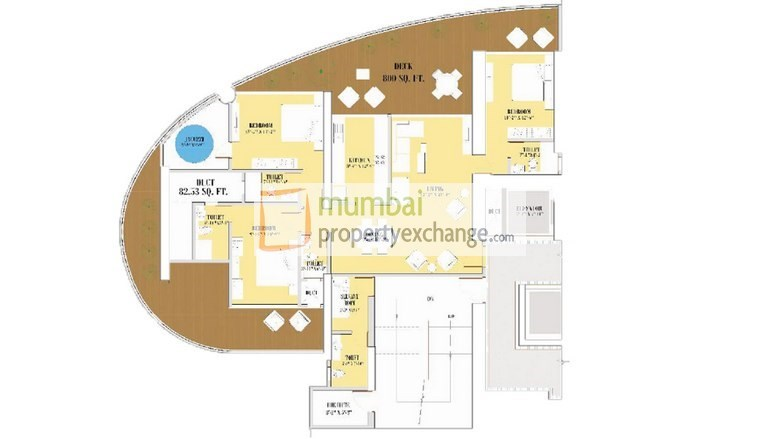 Floor Plan 3BHK