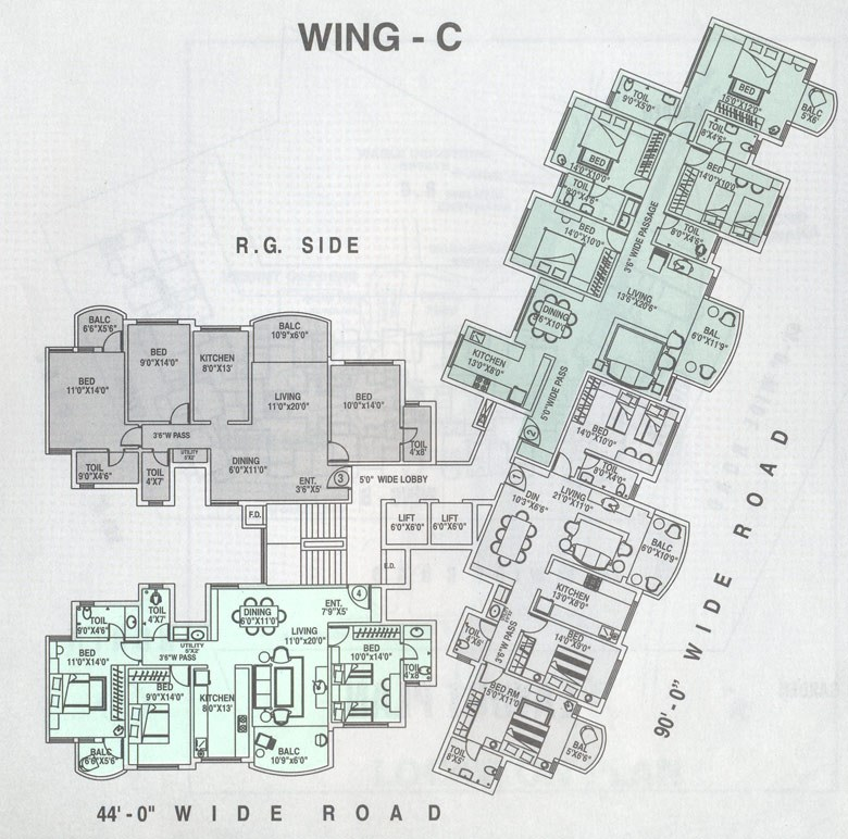 floor plan wing C