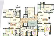 1644 Oth Floor Plan C Wing - Shepherd Residency, Goregaon West
