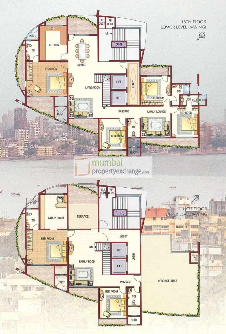 Orizzonte 18 and 19 Floor Plan A wing