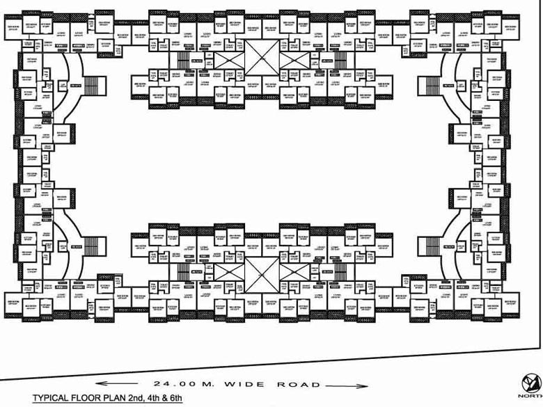 Sea Queen Paradise 2nd 4th and 6th Floor Plan
