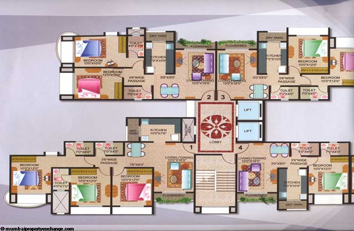 Joy Homes Floor plan B wing