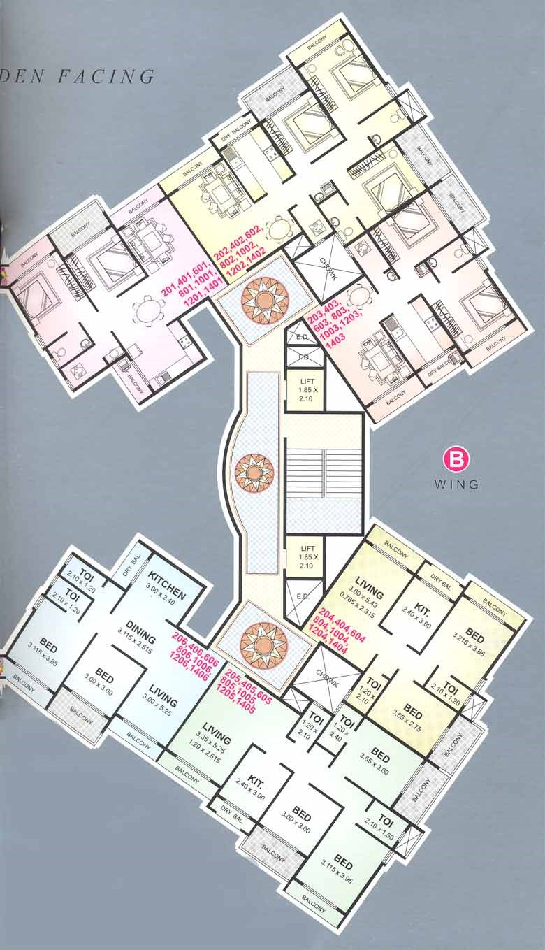Ravechi Heights B Wing Floor Plan