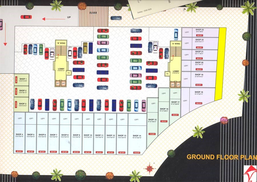 Shree Balaji Krupa Ground Floor Plan