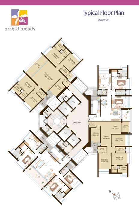 1894 Oth Floor Plan 1  - Orchid Woods, Goregaon East