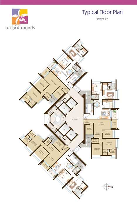 1894 Oth Floor Plan 3  - Orchid Woods, Goregaon East