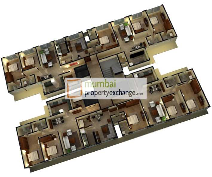 20293 Oth Higher Floor Plan - Jainam Elysium, Bhandup