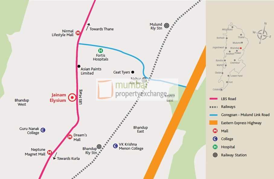 20293 Oth Location Plan - Jainam Elysium, Bhandup