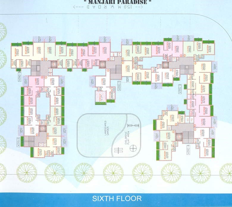 Manjari Paradise 6th Floor Plan