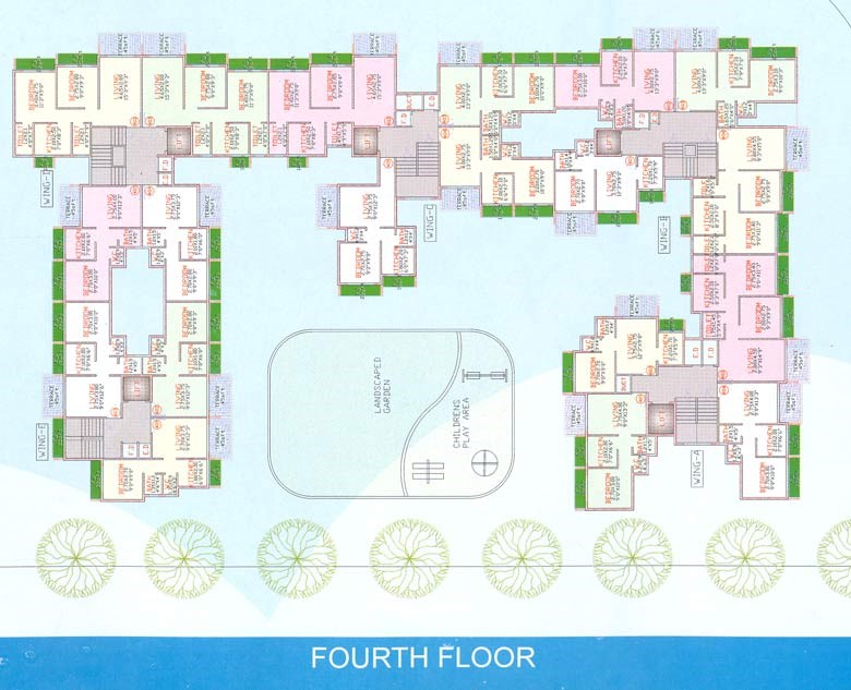 Manjari Paradise Fourth Floor Plan