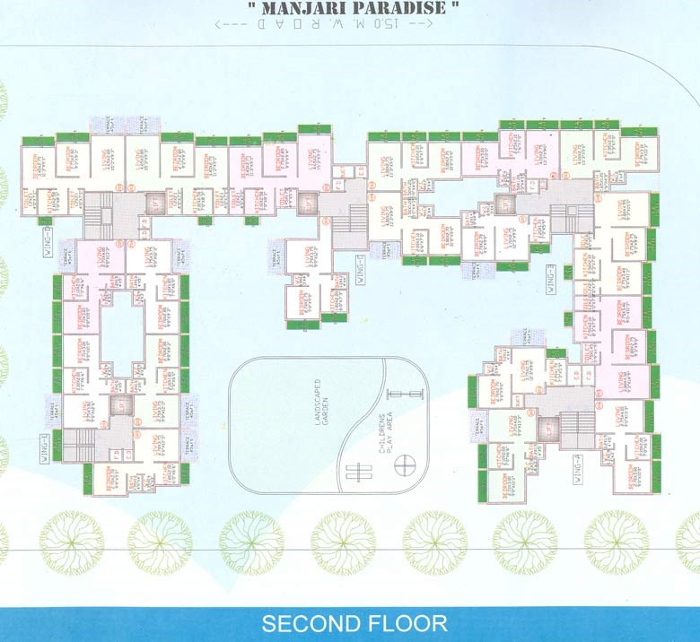 Manjari Paradise Second Floor Plan