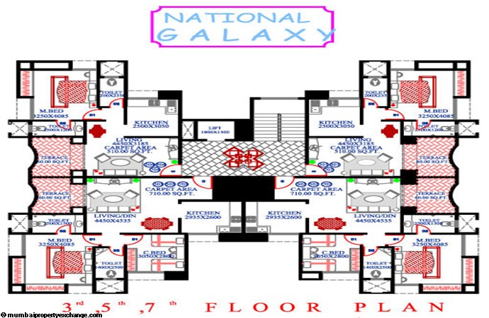 National Galaxy 3rd, 5th, 7th floor plan
