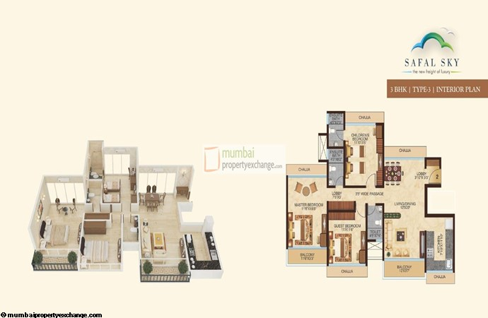 Safal Sky 3BHK Interior 3