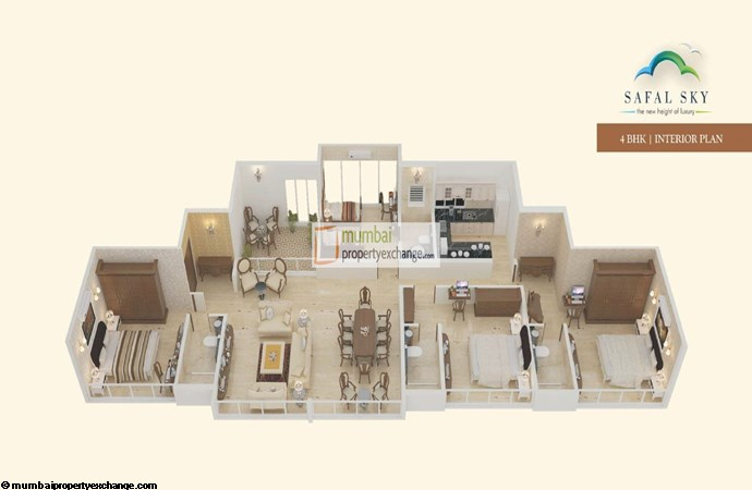 Safal Sky 4BHK Interior