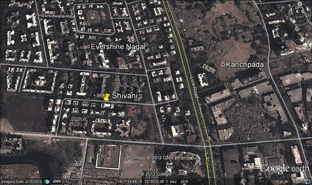 Shivani  Google Earth