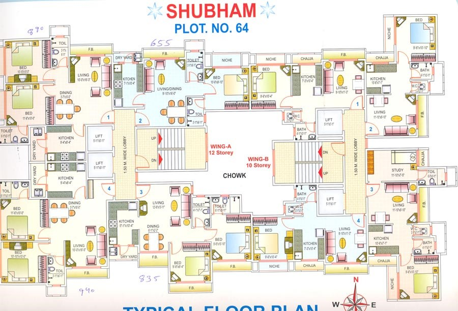 Shubham Sagar Tower Floor plan Shubham